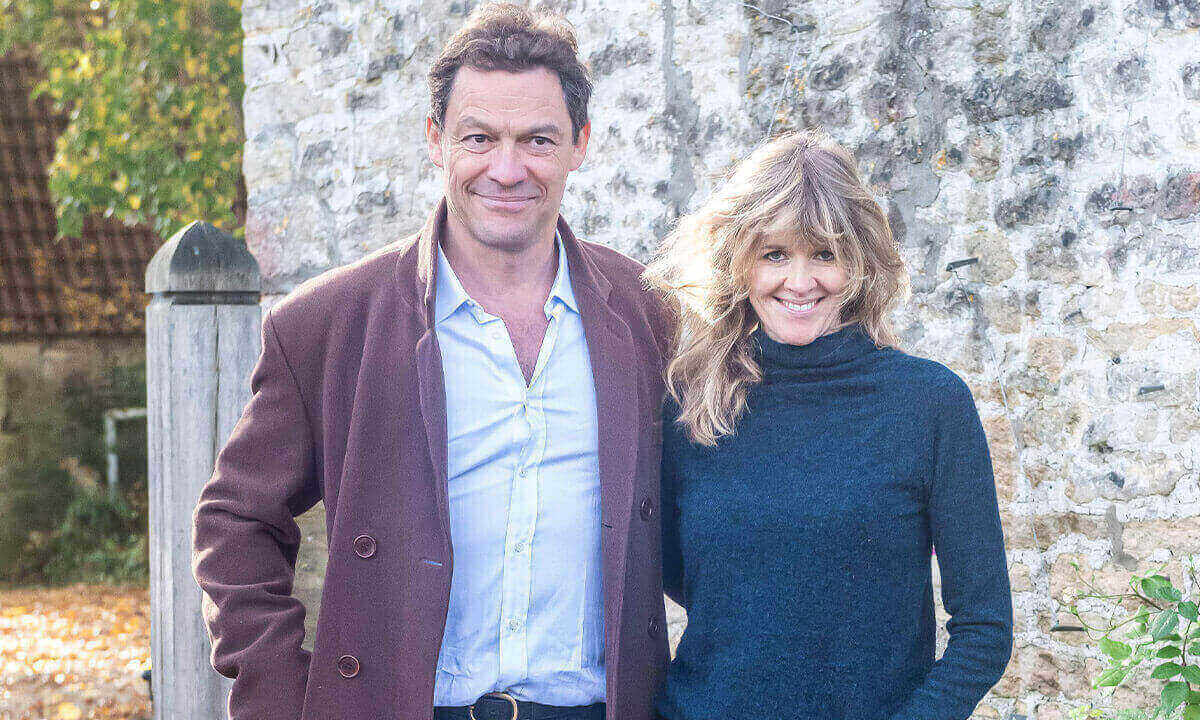 Catherine FitzGerald with her husband Dominic West